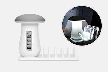 Lampe med USB-lader