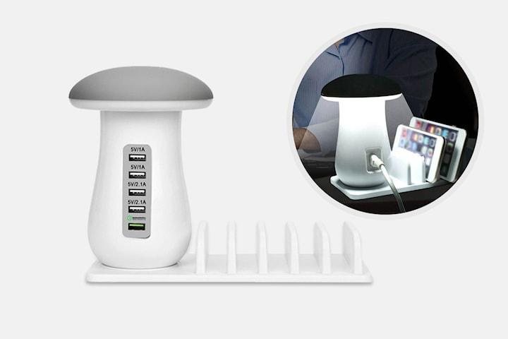 Lampa med USB-laddare