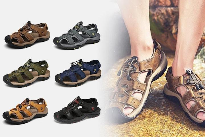 Sandaler i lær