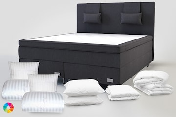 Komplett sängpaket inkl. sängkläder och madrasskydd