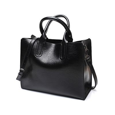 Svart, Hand Bag Fake Leather, Handväska i PU-läder, ,  (1 av 1)