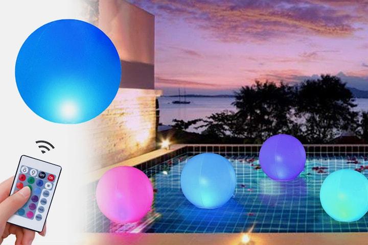 Oppblåsbar ball med LED-lys