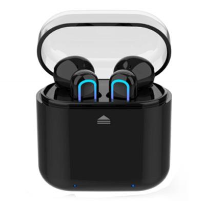 Svart, Universal Bluetooth Earphone Wireless Stereo Headset, Hörlurar med laddningsetui, ,  (1 av 1)