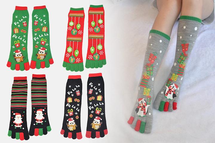 Tåstrumpor med julmotiv