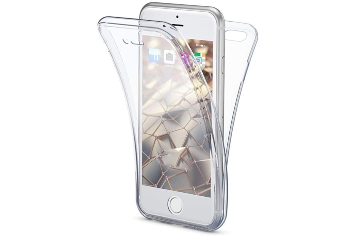 Full cover transparent TPU-skal till iPhone