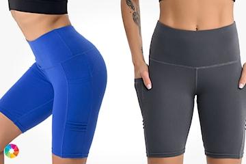 Korta träningstights med fickor