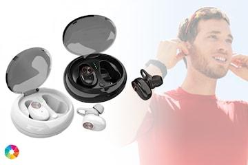 Trådløse in-ear hodetelefoner med ladeetui