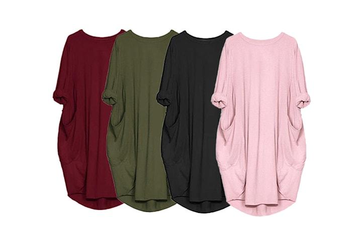 T-skjortekjole med lommer