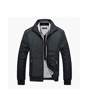 Svart, L, Harrington spring jacket for men, Harrington-jakke til herre, ,