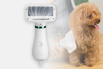 Pälsborste med hårtork för husdjur