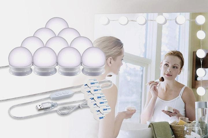 Selvklebende strenglys for speil