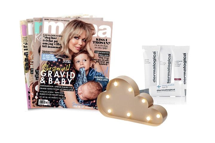 4 nr av Mama + hudvård från Dermalogica + molnlampa