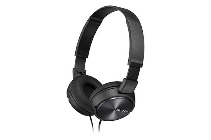 Sony ZX-serien MDR-ZX310AP Pannband/On-Ear, Mikrofon, Svart