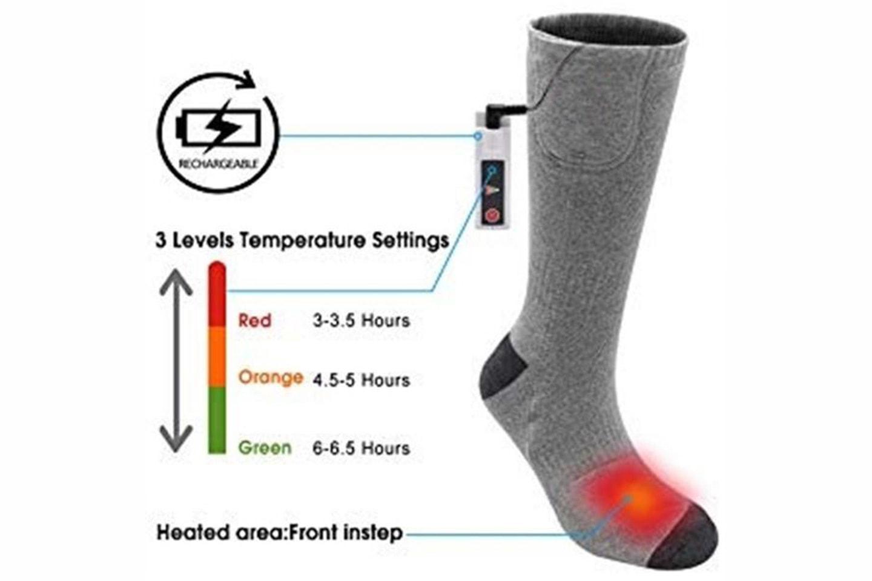 Batterioppvarmede sokker