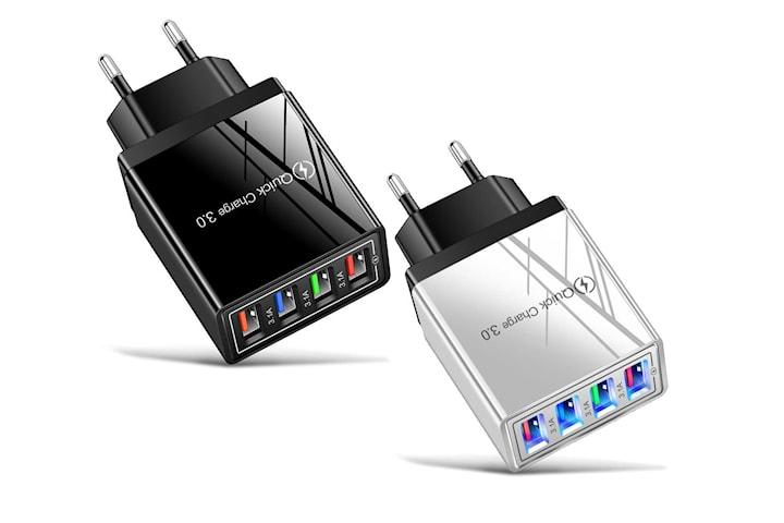 2x Veggadapter med 4 LED-porter