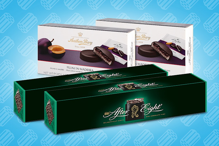 After Eight 400g og Anthon Berg Plum in Madeira 220 g