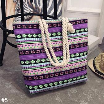5, Capacity Tote Canvas Shoulder Bag, Axelväska med rephandtag, ,