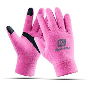 Rosa, S, Fleece Touch Gloves, Skihansker med touchfingre, ,