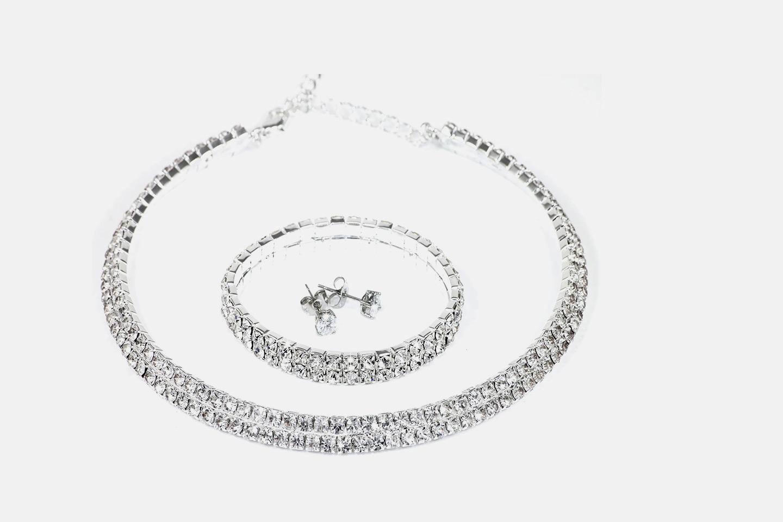 Elegant smyckeset med Swarovski-kristaller (1 av 1)