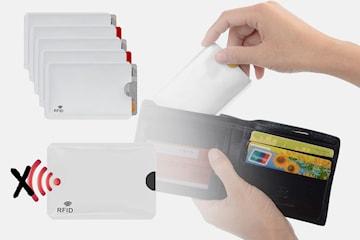 Kortlomme med RFID blokkering 5-, 10- eller 20-pack