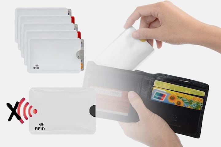 Kortficka med RFID-skydd 5-, 10- eller 20-pack