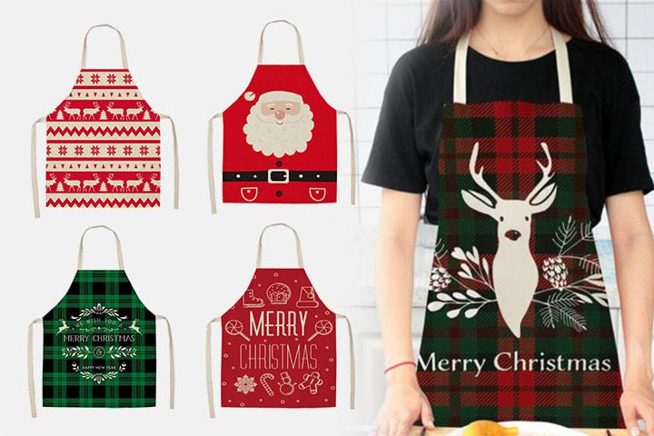 Forkle med julemønster