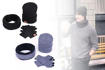 Unisex lue, skjerf og hansker
