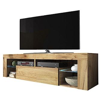 Vintage Oak, With LED, Hugo tv-bänk med LED-belysning, ,