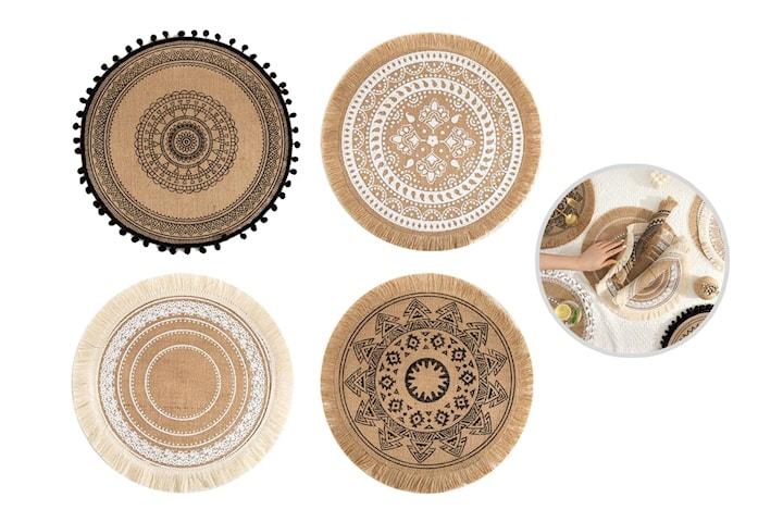 Spisebrikker i nordisk stil 2-, eller 4-pack