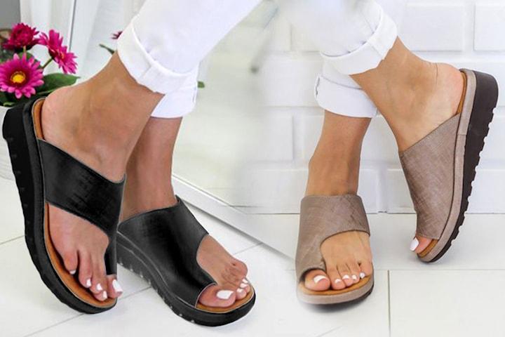 Slip-in sandaler