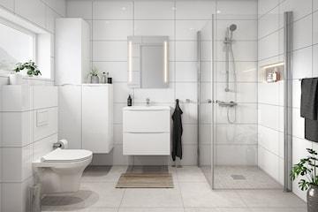 Oppgrader badet med ny servant og speil inkl. blandebatteri, bunnventil og utført arbeid