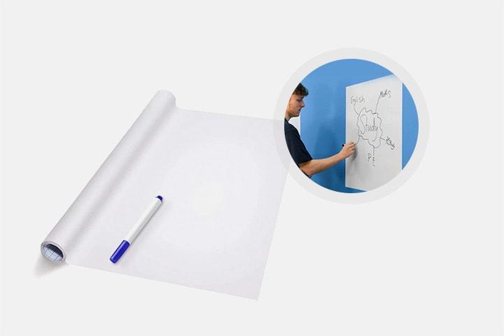 Selvklebende whiteboard