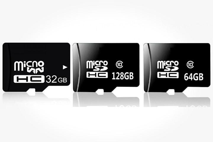 Micro SD minnekort med eller uten adapter
