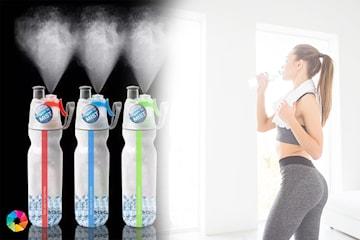 Vannflaske med spray