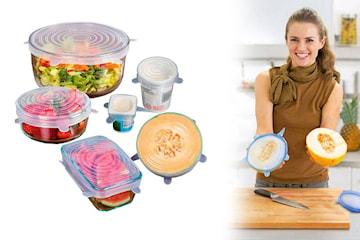 6-pack oppbevaringsbokser til mat
