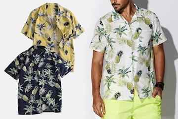 Kortermet skjorte med ananas