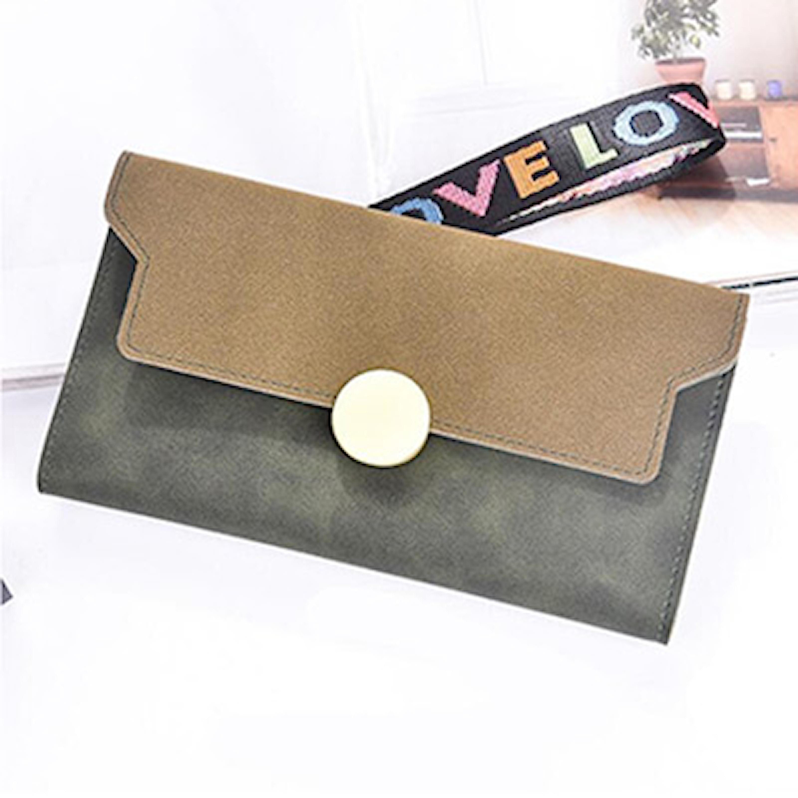 Grön, Hengsheng 070 Wallet, Plånbok med gulddetaljer, ,