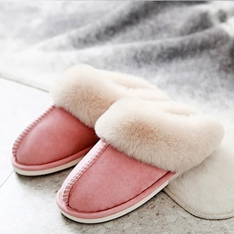 Rosa, 36-37, Women, Suede Comfortable Soft Slippers, Mockatofflor,
