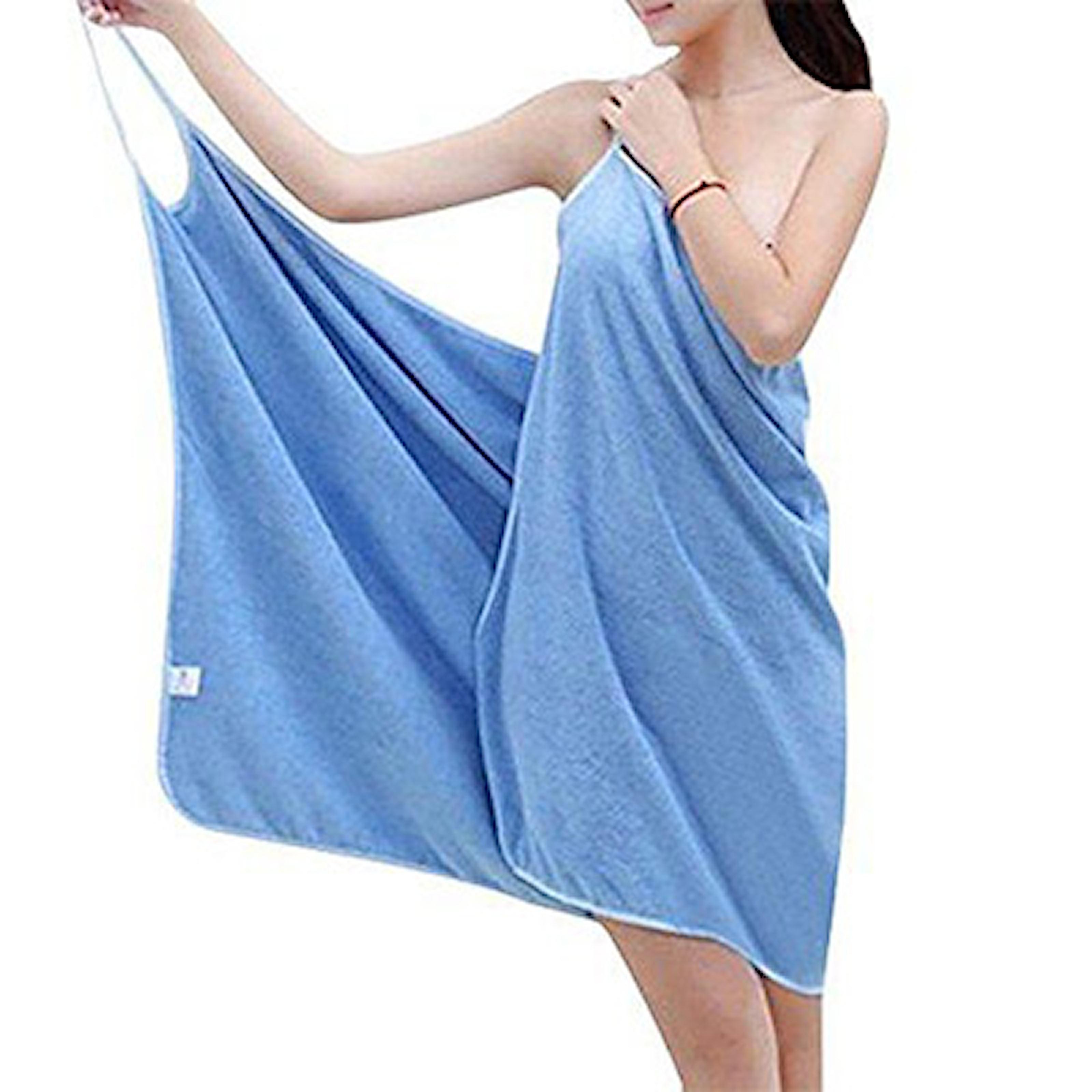 Blå, Bathtowel Dress, Badlakanklänning, ,