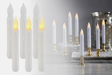 Batteridrevne LED-stearinlys 4-pack