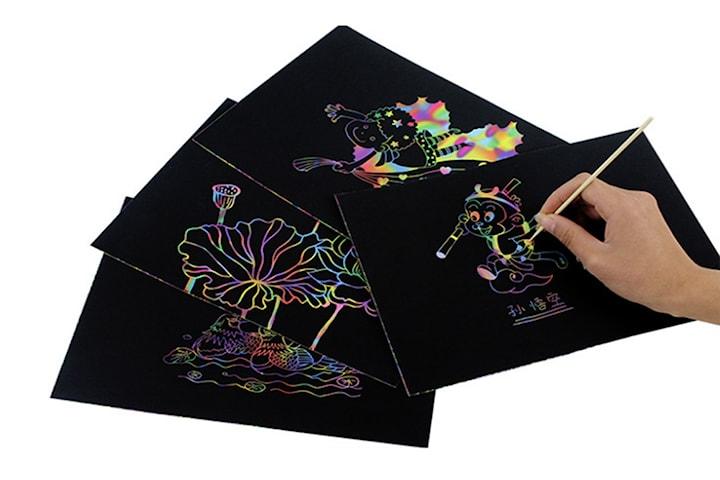 Scratch paper med 10, 20 eller 40 ark