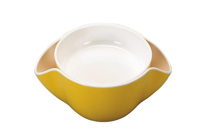 Dobbelt snackskålen med plass til skall