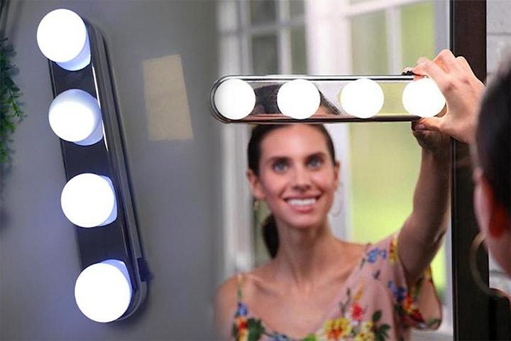 Makeup LED-lys til å feste på speil