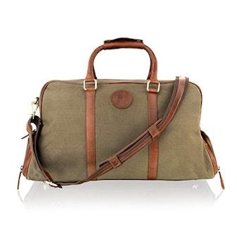 Khaki/Tan, Large 20.0″ Holdall Twin Bag, 2 Colors, Resväska, ,
