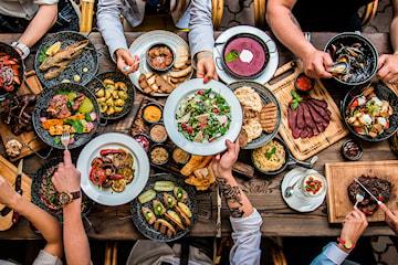 7-retters tapasmeny fra Elite Catering (for 10 til 200 personer)