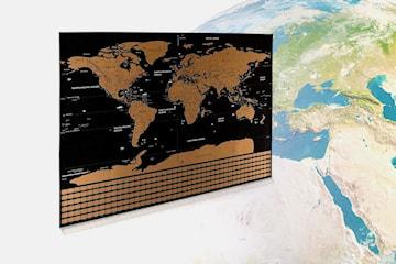 Scratch map världskarta