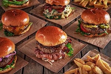 Førsteklasses burger-meny hos Matgal Burger avd Skjoldhagen