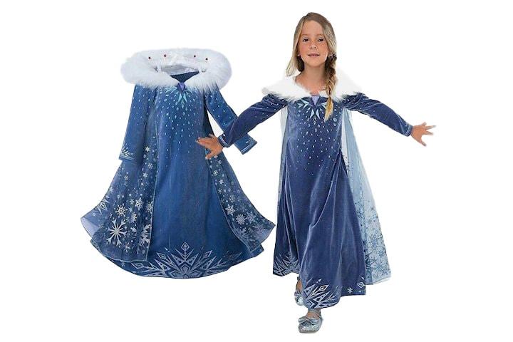 Blå klänning för barn