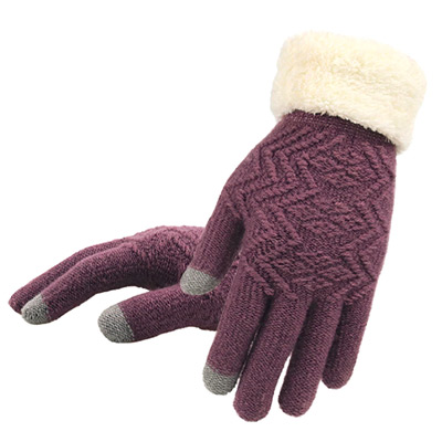 Lilla, Knitted touch screen warm gloves, Strikkede hansker,  (1 av 1)