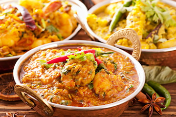 Indisk traditionell eller vegetarisk currygryta